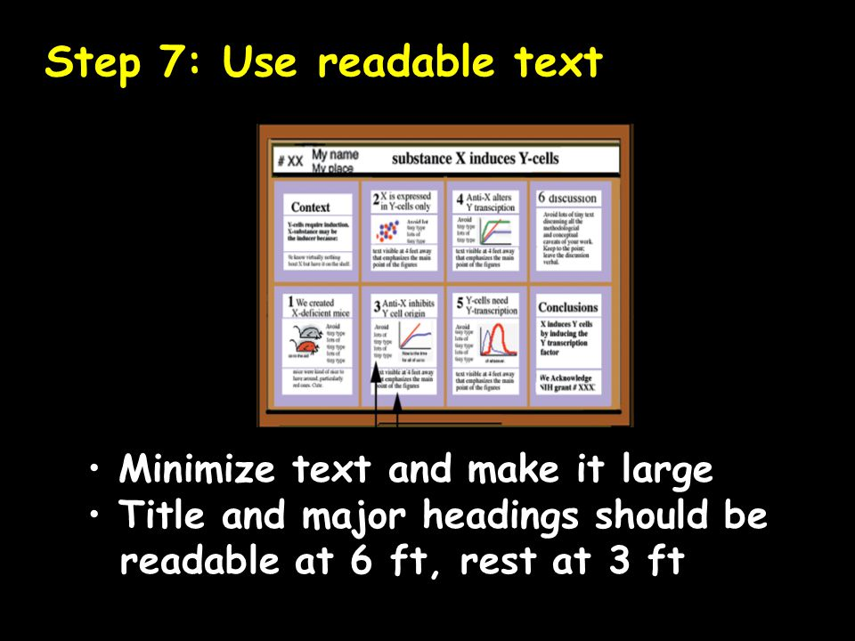 Step 7: Use readable text