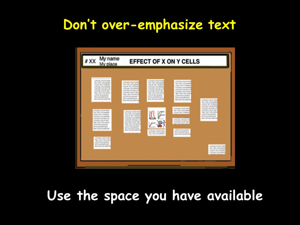 Don't over-emphasize text
