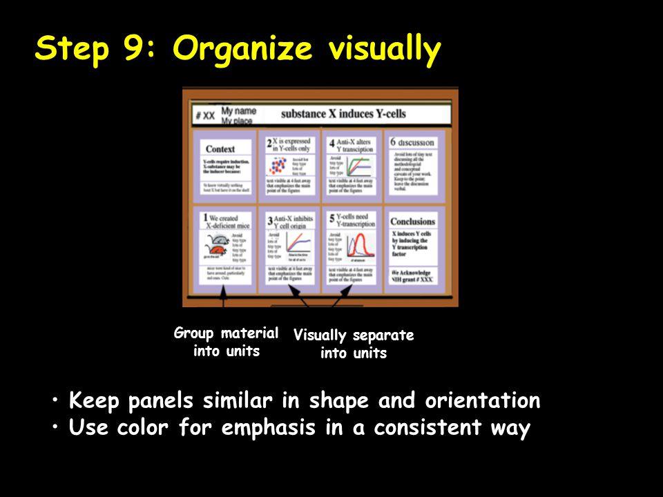 Step 9: Organize visually