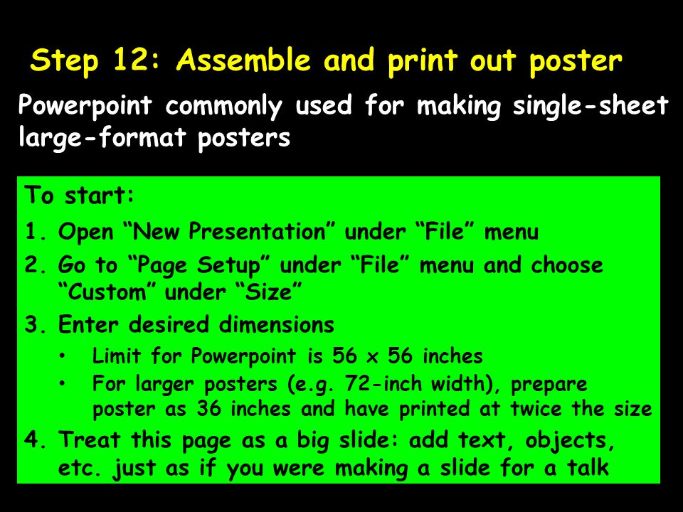 Step 12: Assemble and print out poster