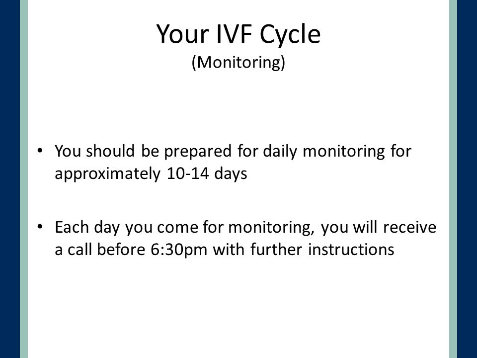 Your IVF Cycle (Monitoring)
