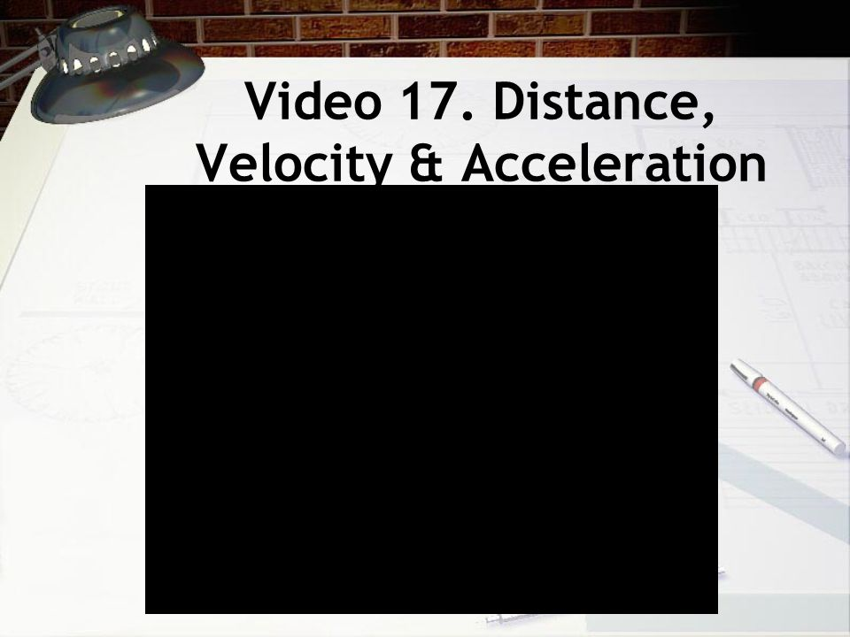 Video 17. Distance, Velocity & Acceleration