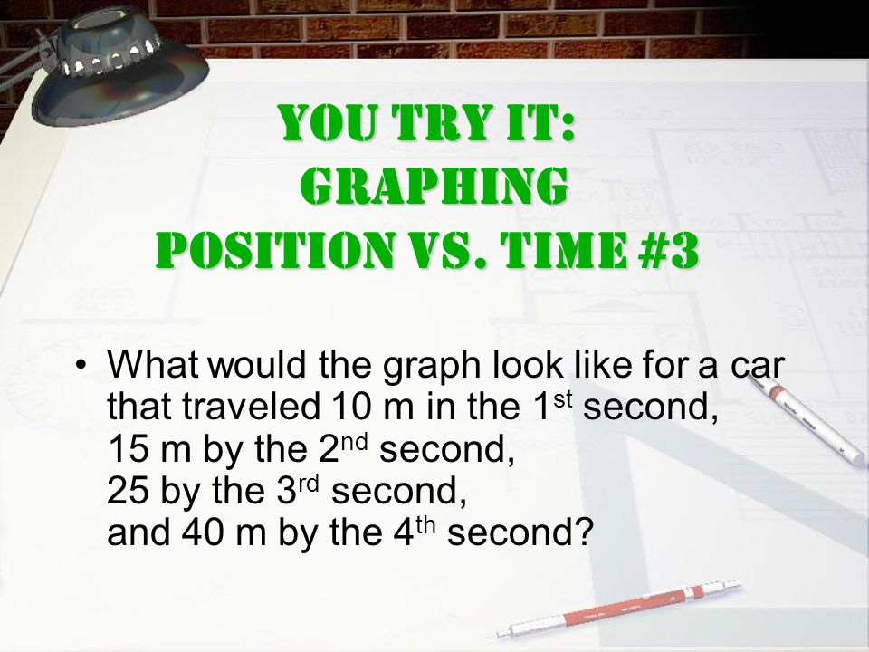 You Try It: GrAPHING Position Vs. Time #3