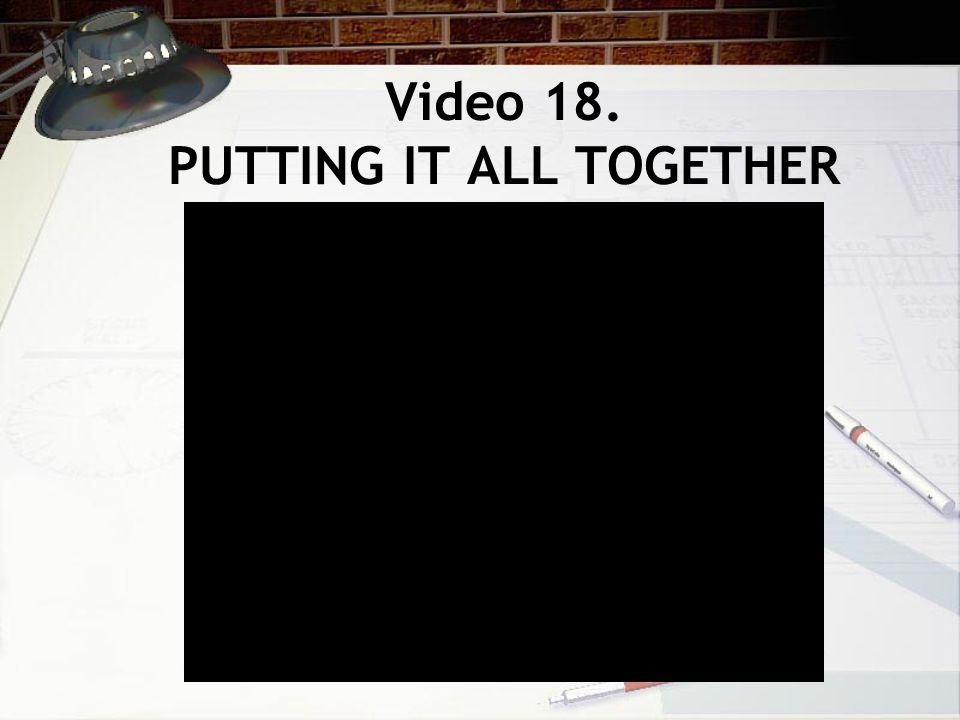 Video 18. PUTTING IT ALL TOGETHER