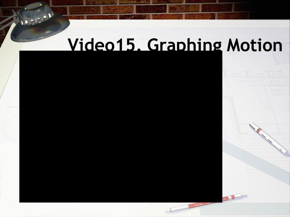 Video15. Graphing Motion
