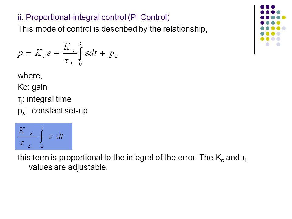 ii. Proportional-integral control (PI Control)