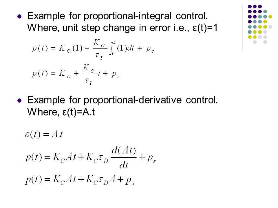 Example for proportional-integral control