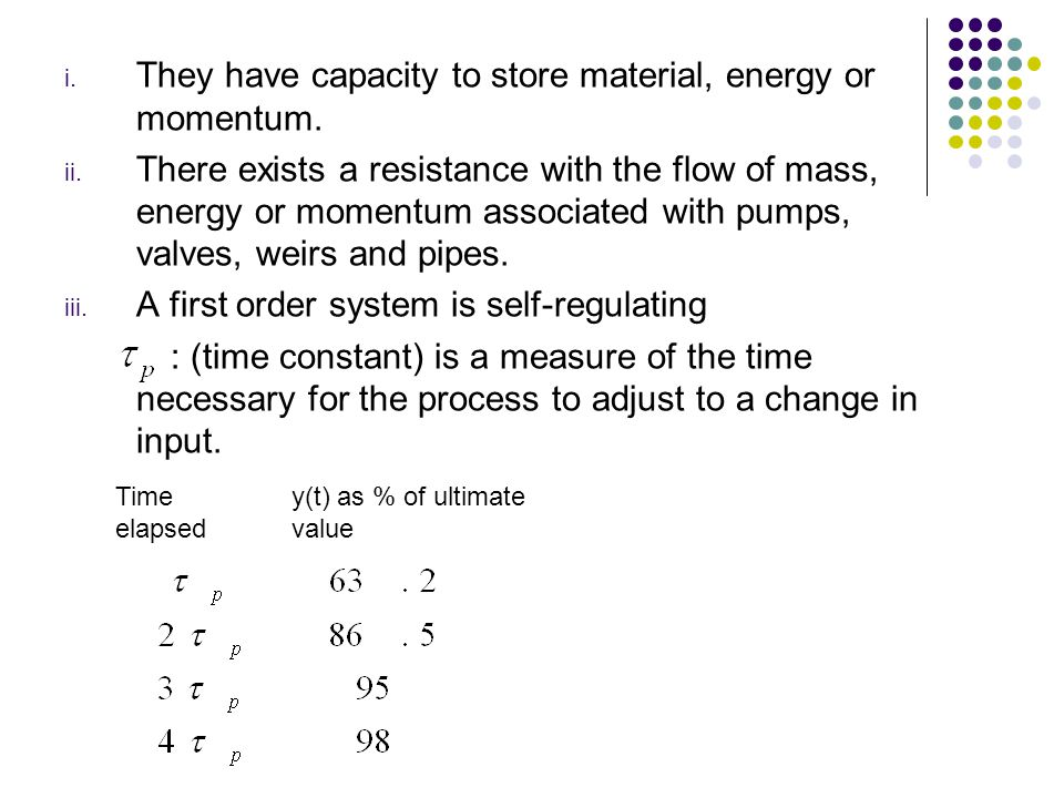 They have capacity to store material, energy or momentum.