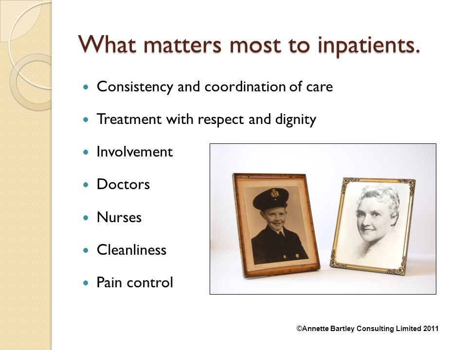 What matters most to inpatients.