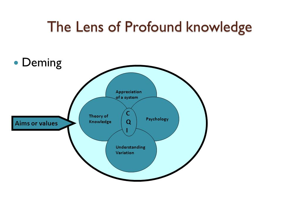The Lens of Profound knowledge