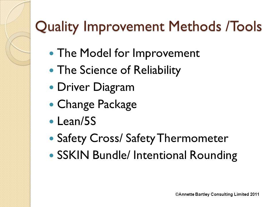 Quality Improvement Methods /Tools