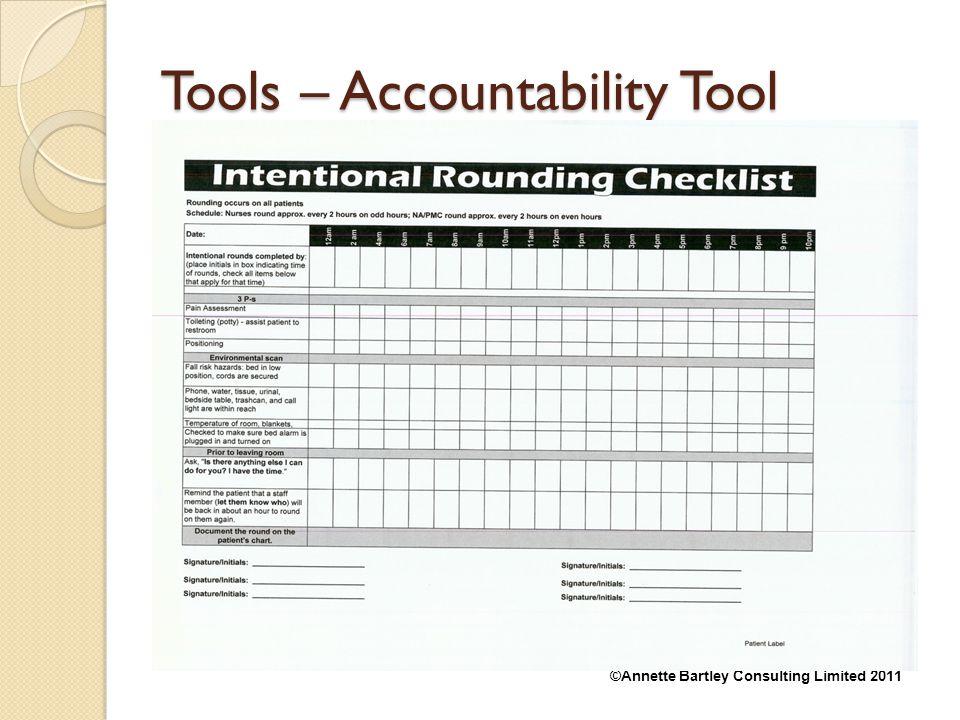 Tools – Accountability Tool