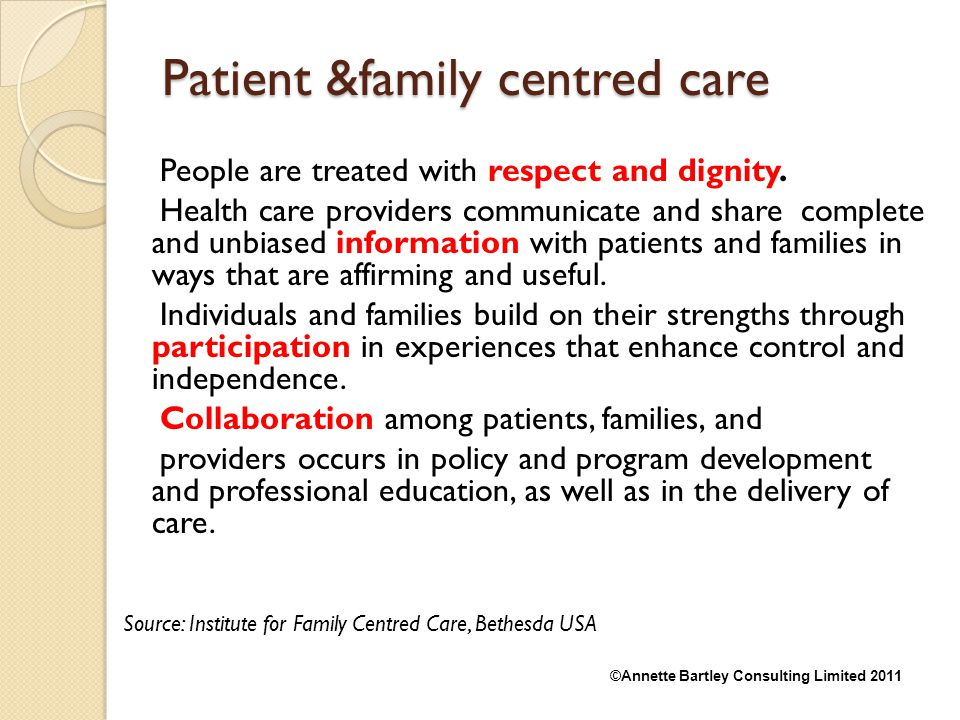Patient &family centred care