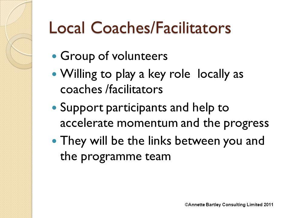 Local Coaches/Facilitators