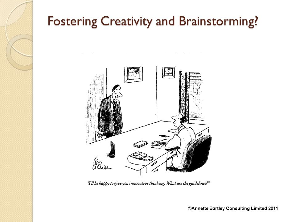 Fostering Creativity and Brainstorming