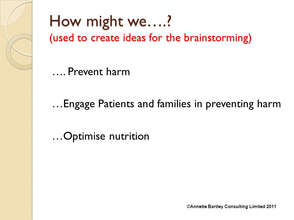 How might we…. (used to create ideas for the brainstorming)