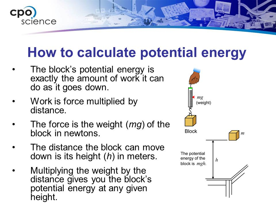 How to calculate potential energy