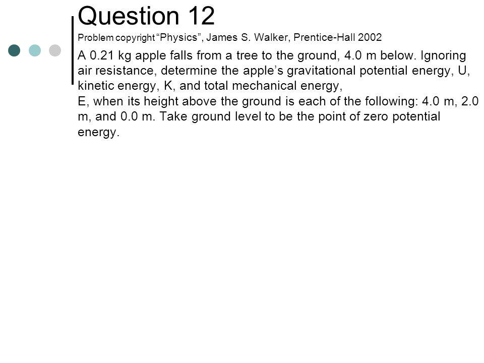 Question 12 Problem copyright Physics , James S