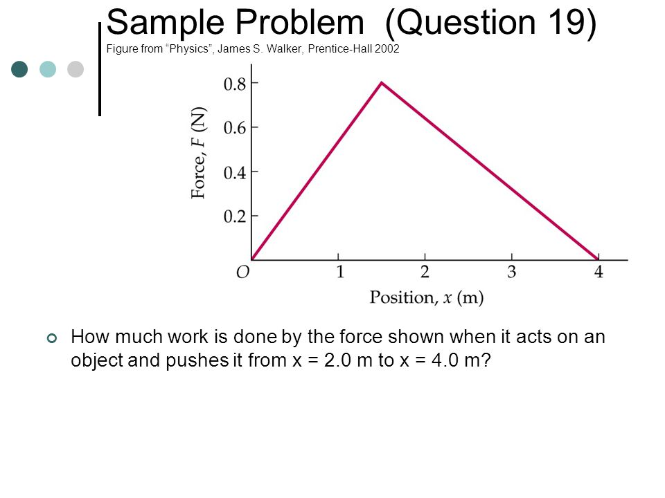 Sample Problem (Question 19) Figure from Physics , James S