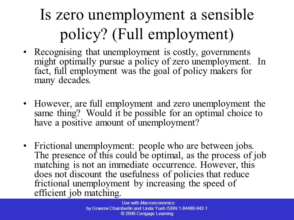 Is zero unemployment a sensible policy (Full employment)