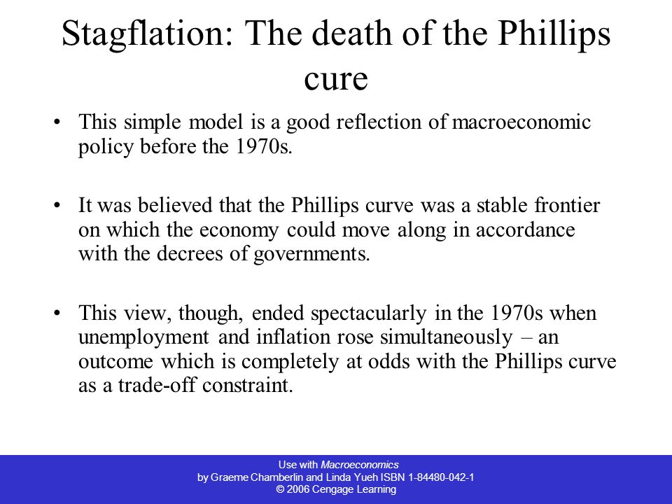 Stagflation: The death of the Phillips cure