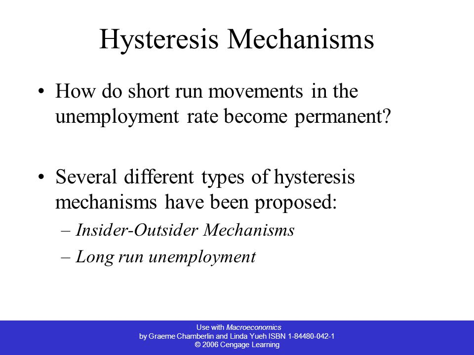 Hysteresis Mechanisms