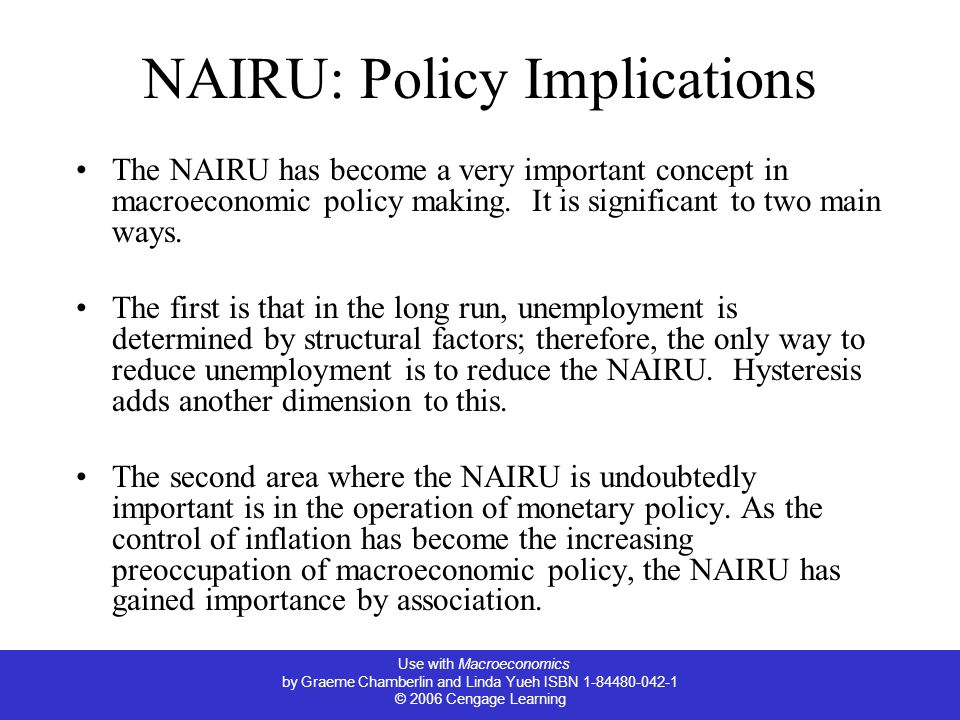 NAIRU: Policy Implications
