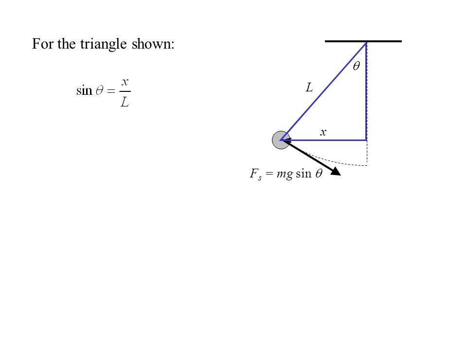 For the triangle shown: