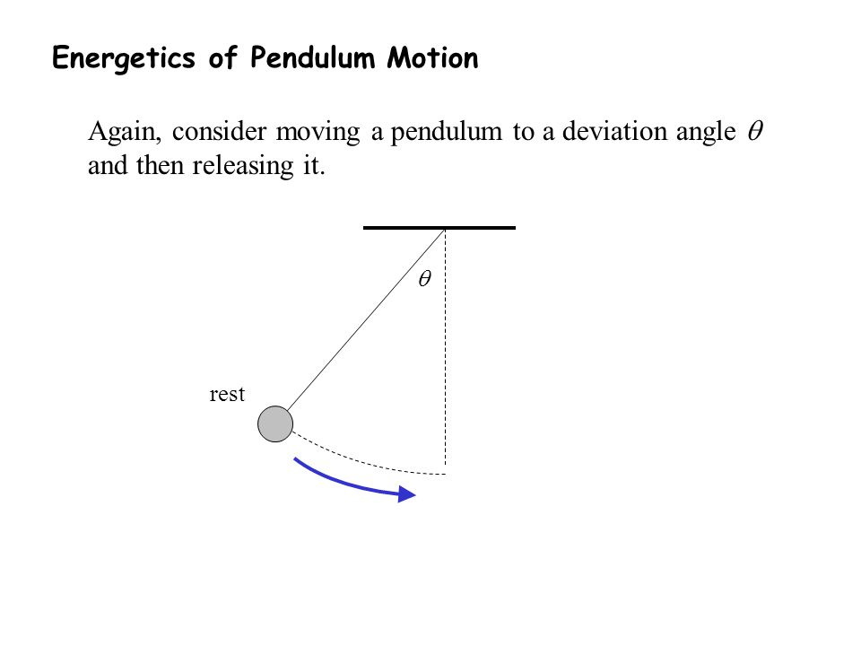 Energetics of Pendulum Motion