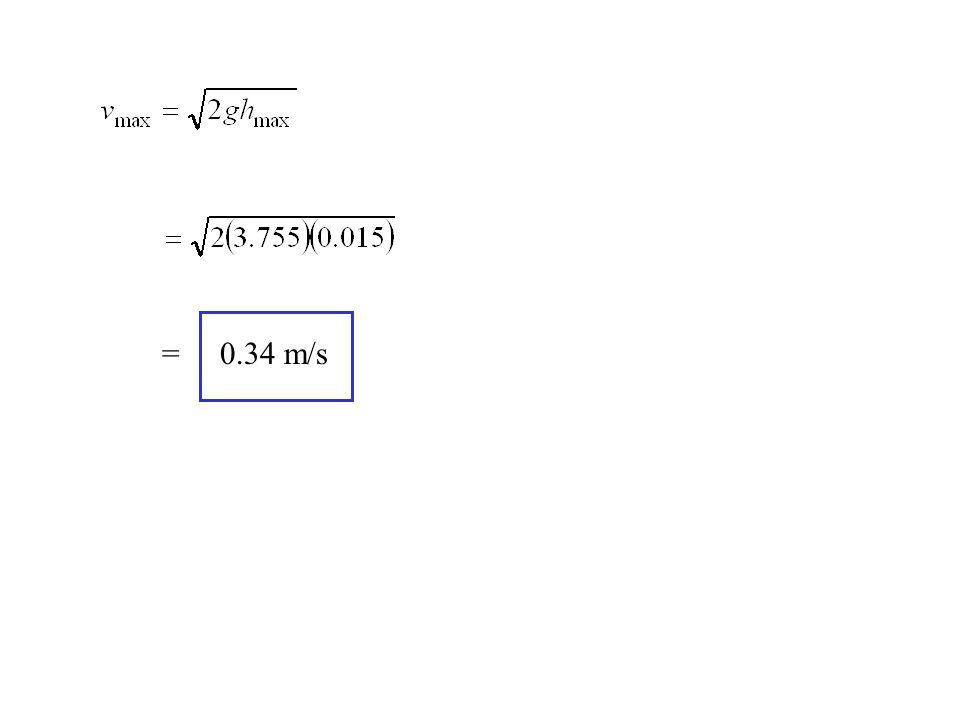 = 0.34 m/s