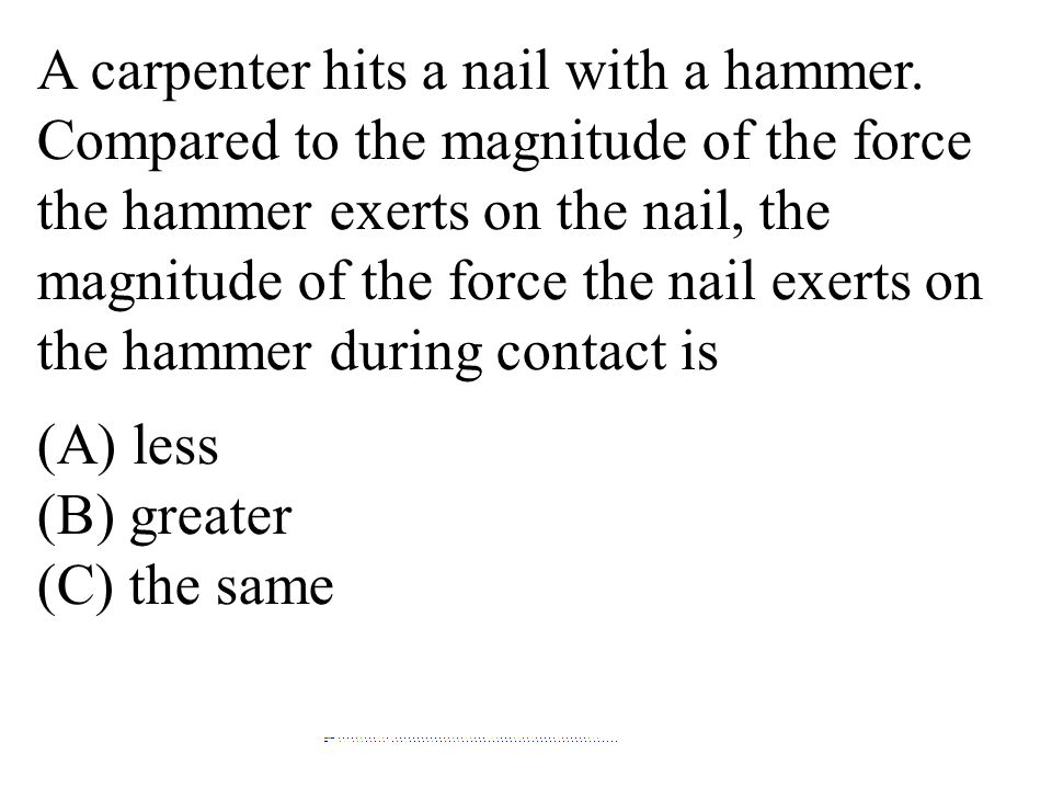 A carpenter hits a nail with a hammer