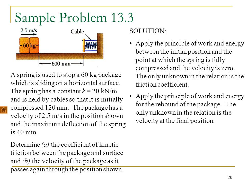 Sample Problem 13.3 SOLUTION: