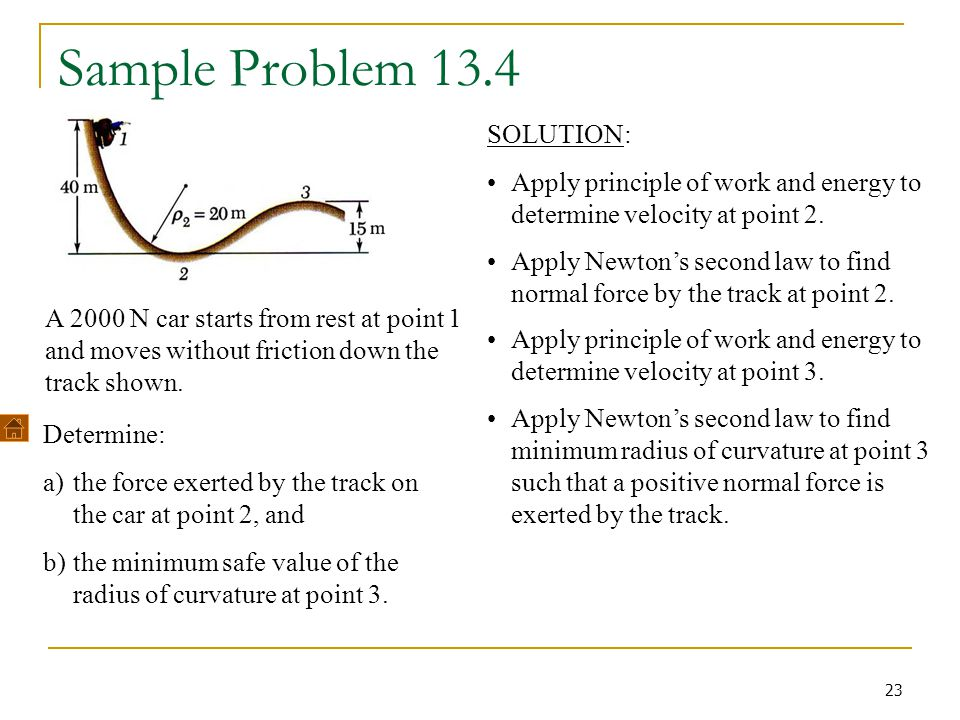 Sample Problem 13.4 SOLUTION: