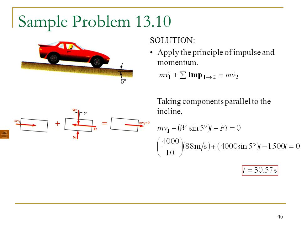 Sample Problem 13.10 SOLUTION: