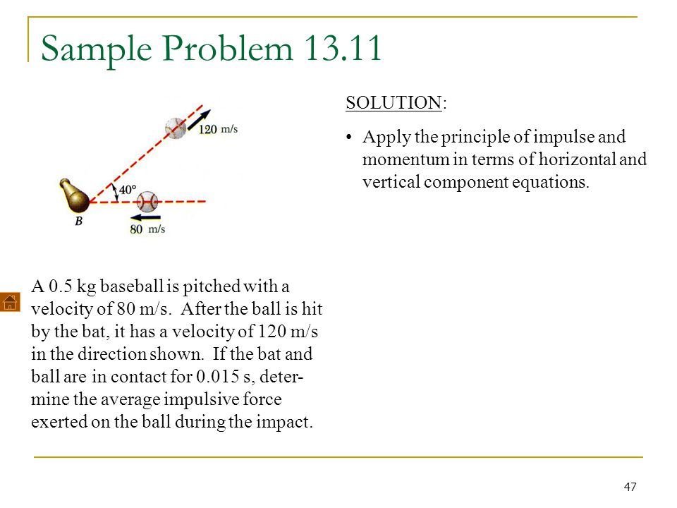 Sample Problem 13.11 SOLUTION: