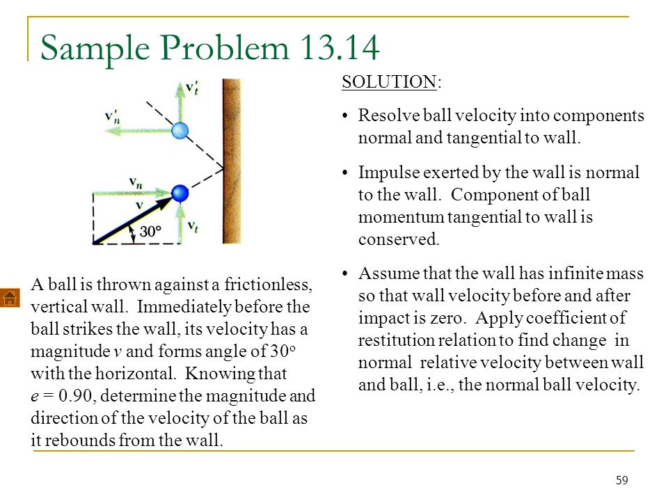 Sample Problem 13.14 SOLUTION:
