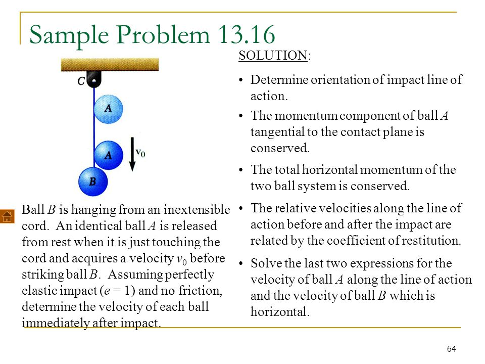 Sample Problem 13.16 SOLUTION: