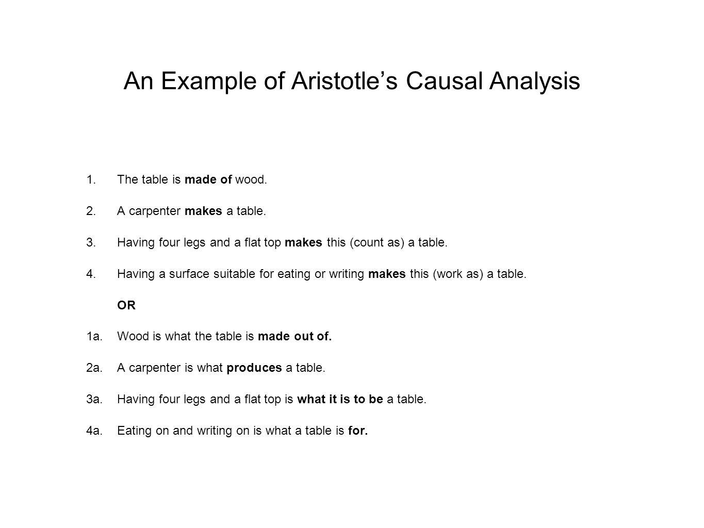 An Example of Aristotle's Causal Analysis