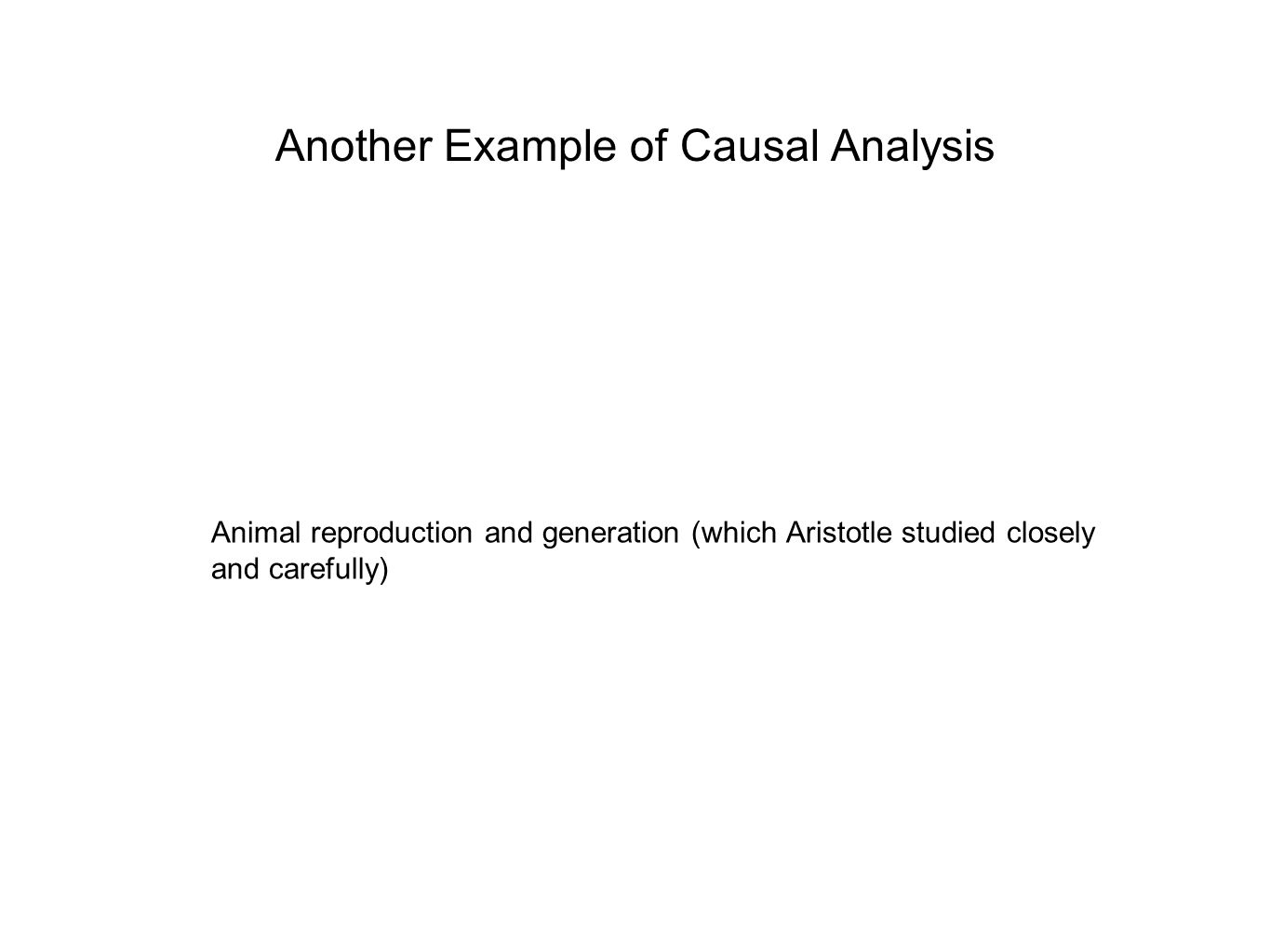 Another Example of Causal Analysis