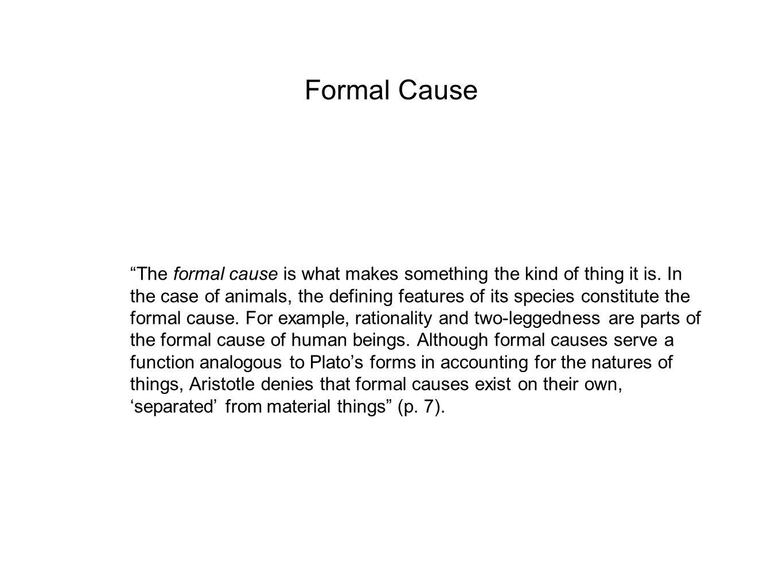 Formal Cause