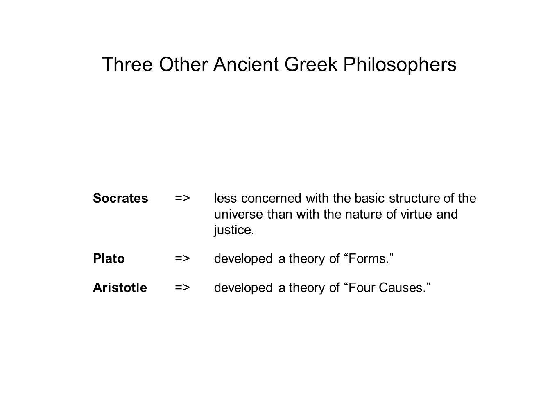 Three Other Ancient Greek Philosophers