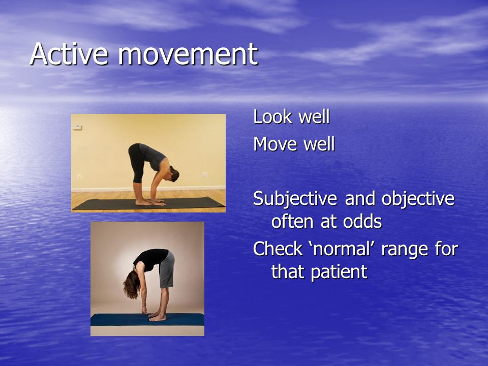 Active movement Look well Move well