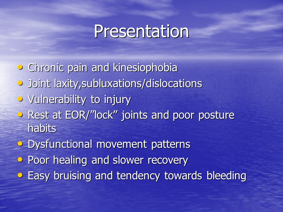 Presentation Chronic pain and kinesiophobia