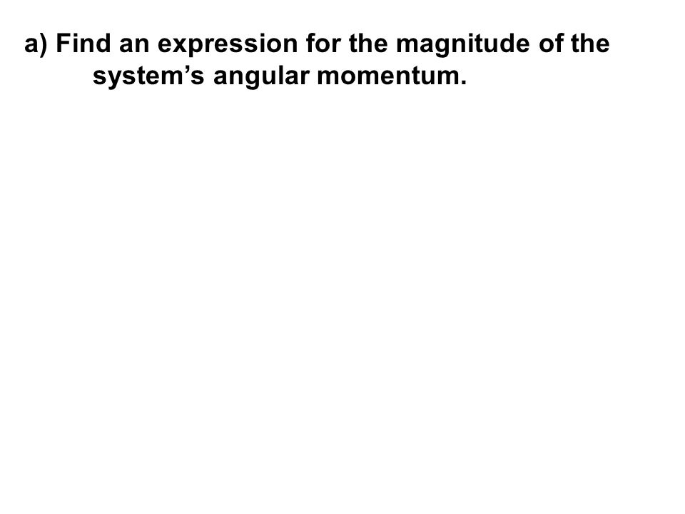 a) Find an expression for the magnitude of the