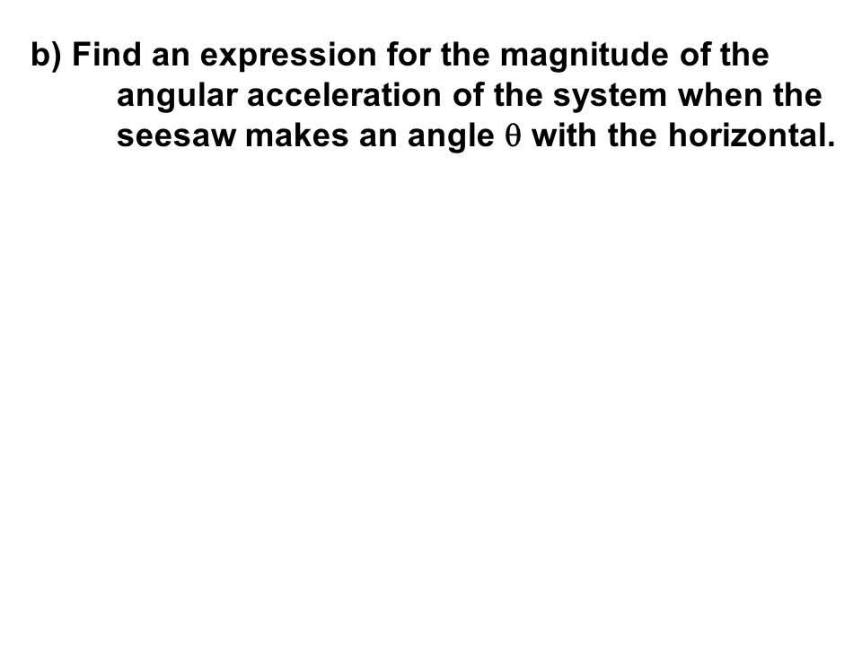 b) Find an expression for the magnitude of the