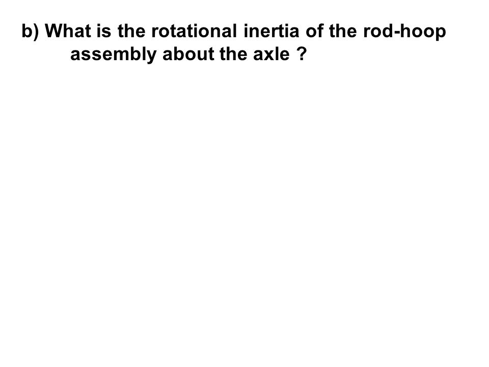 b) What is the rotational inertia of the rod-hoop