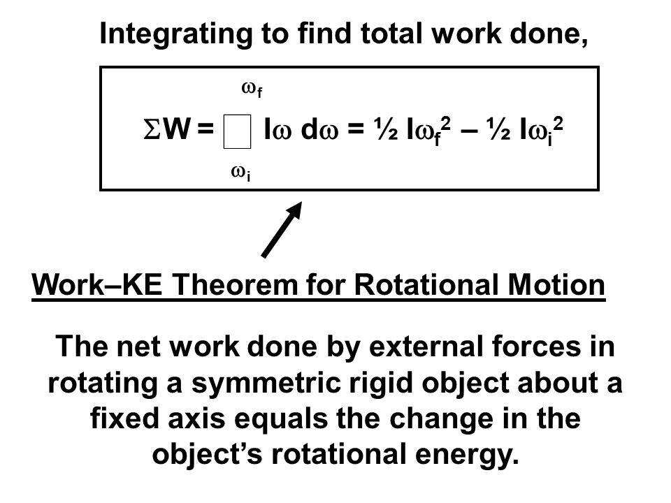 Integrating to find total work done,