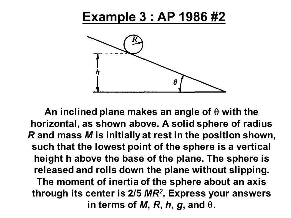 Example 3 : AP 1986 #2