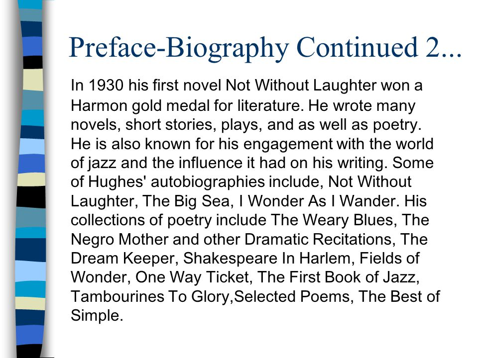 Preface-Biography Continued 2...