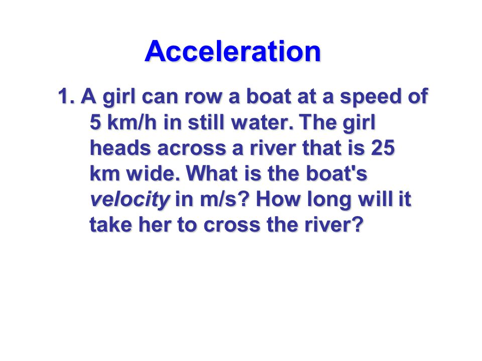 Acceleration